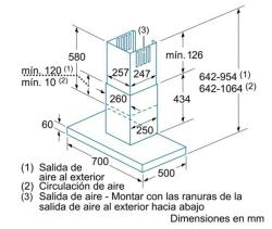 CHIMENEA DE PARED BALAY MODELO 3BC874P CROQUIS